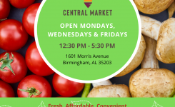 Birmingham Central Market Open Mondays, Wednesdays, & Fridays